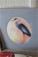 4 Brannon - Blue Heron Watercolor Art