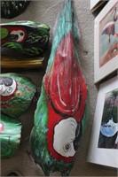 8pc Palm Bark Macaw Art