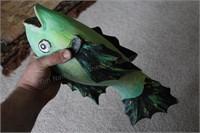 Carved Wood Fish Figure