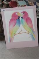 3 Brannon - Watercolor Macaw Art