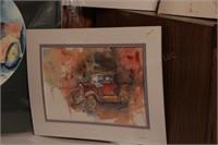 7 Brannon - Watercolor Model T Artwork