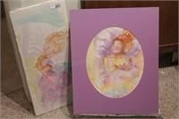 2 Brannon - Sleeping Child & Doll Watercolor
