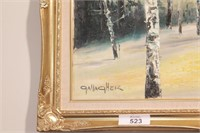 Gallagher - Horse winter Scene - Oil on Canvas