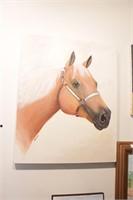 Western Theme oil on canvas