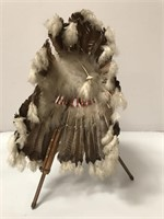 Native American Vintage Head Dress on Stand