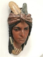 Native American Wooden Carved Woman