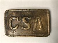 CSA Civil War Belt Buckle