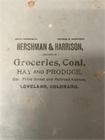 Hershman & Harrison Groceries Metal Tray