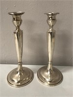 English Sterling Silver Candle Holders