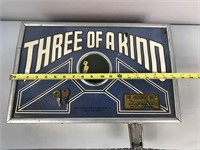 Three Of A Kind  Antique Penny Coin Game W/ Key