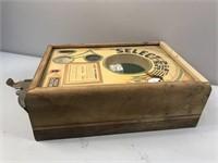 Select-Em Vintage Arcade Tabletop Game W / Key