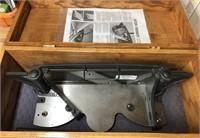 Miter trimmer in wood case