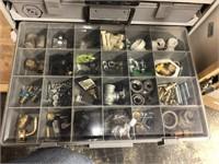 Storage organizer with contents