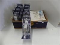 BOX: 6 WEISER DOOR LEVELS & BOX DRAWER PULLS