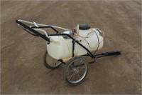 14-Gal Pull Behind Sprayer, Works Per Seller