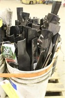 (5) Pails of Assorted Lawn Mower Blades