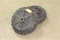 """(2) Plastic Dock Wheels, Approx 24"""""""