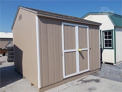 10X10 A Frame Utility Shed/Bldg Barn Style Frt Dbl Other
