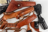 Large Lot of Bianchi Leather Holsters