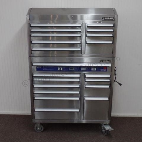 Strange Kobalt Stainless 20 Drawer Tool Chest Box Combo Hibid Machost Co Dining Chair Design Ideas Machostcouk