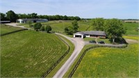 47.25 ACRE HORSE FARM & 3 BR BRICK HOME