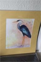 3 Brannon - Blue Heron Watercolor Art