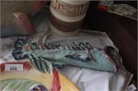 3pc Fish Platter, Figure & Sconce