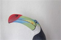 5' Carved Wood Toucan Statue