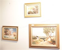 3 Brannon - City, rural & Jungle Oil on Canvas Art