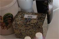 Vase, Index File & Rooster Tin