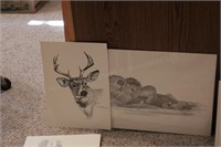 Nature prints & paintings (several)