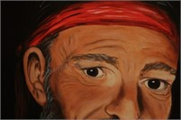 Willie Nelson Oil on canvas