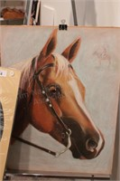 Brannon - Horse Pastel sketches w/ easels