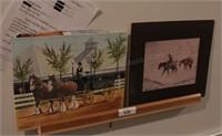 Horses prints & oil on canvas