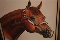 Horse Bust - Brannon - Oil on canvas