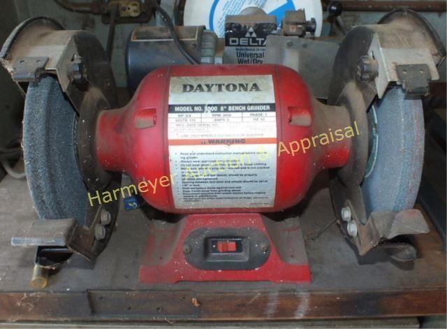 Miraculous Daytona Model 7500 8 Bench Grinder Harmeyer Auction Bralicious Painted Fabric Chair Ideas Braliciousco