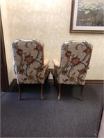 High back, leather office chair, with upholdered