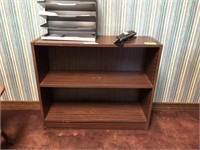 Side desk, book shelf, contents not included