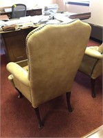 Tufted, High back leather office chair