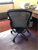 Rolling office chair and plastic mat