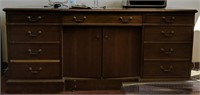 Two credenzas contents not included