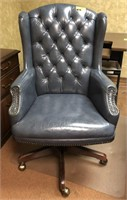 Tufted, High back, leather, rolling office chair,