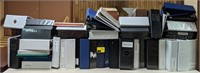 Large lot of 3-ring binders in various sizes