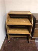 Sofa table and rolling side desk