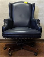 Leather office rolling chair