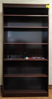 Wooden bookshelf, contents not included