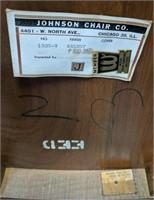 Johnson chair company, wooden chair