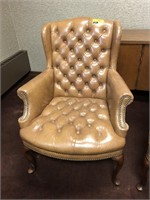 Tufted, High back, leather office chair