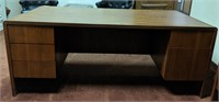 Office desk and credenza