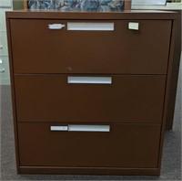 Horizontal, 3 drawer, Metal filing cabinet